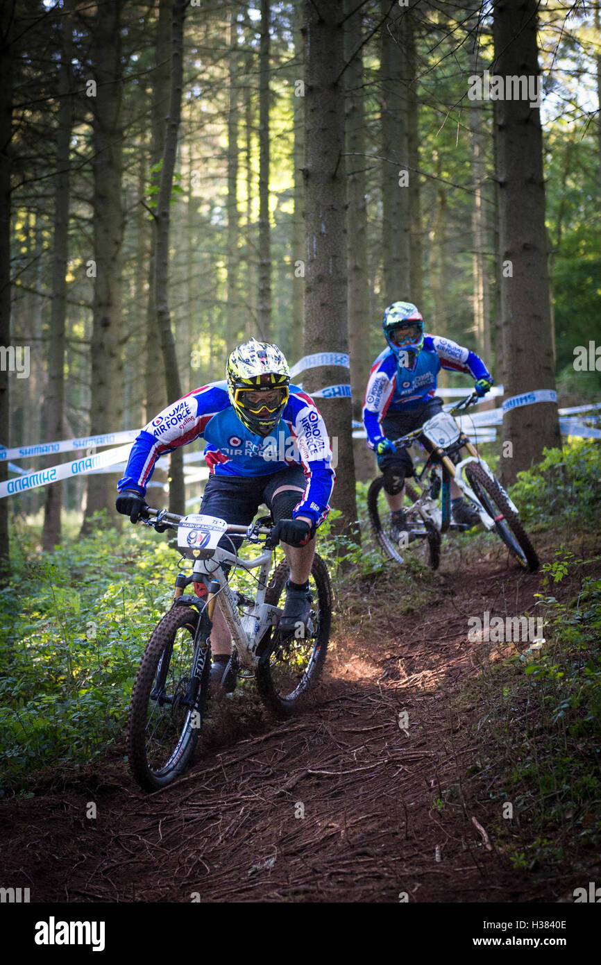 Personnel taking part in the RAF Downhill Championships MOD 451 Stock Photo
