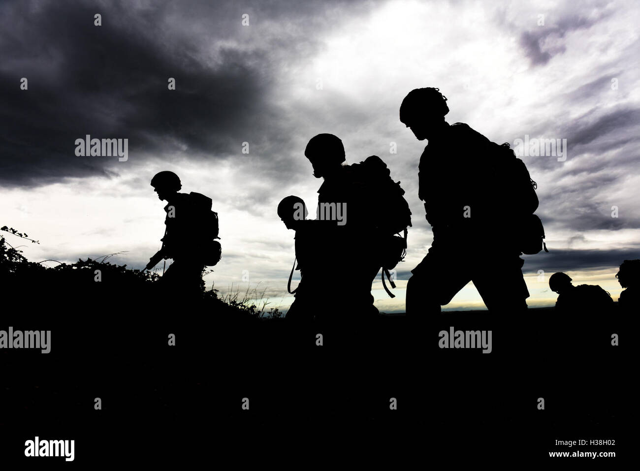 SNCO's from the Army Air Corps taking part in a Leadership course MOD 451 Stock Photo