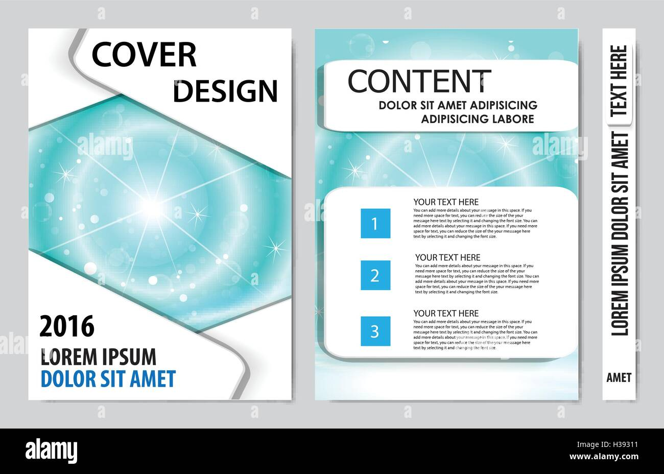 cover book presentation layout design template background stock