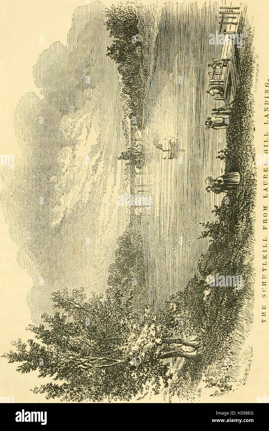 The pictorial sketch-book of Pennsylvania, or, Its scenery, internal improvements, resources, and agriculture, populary described (1852) (1475862 Stock Photo