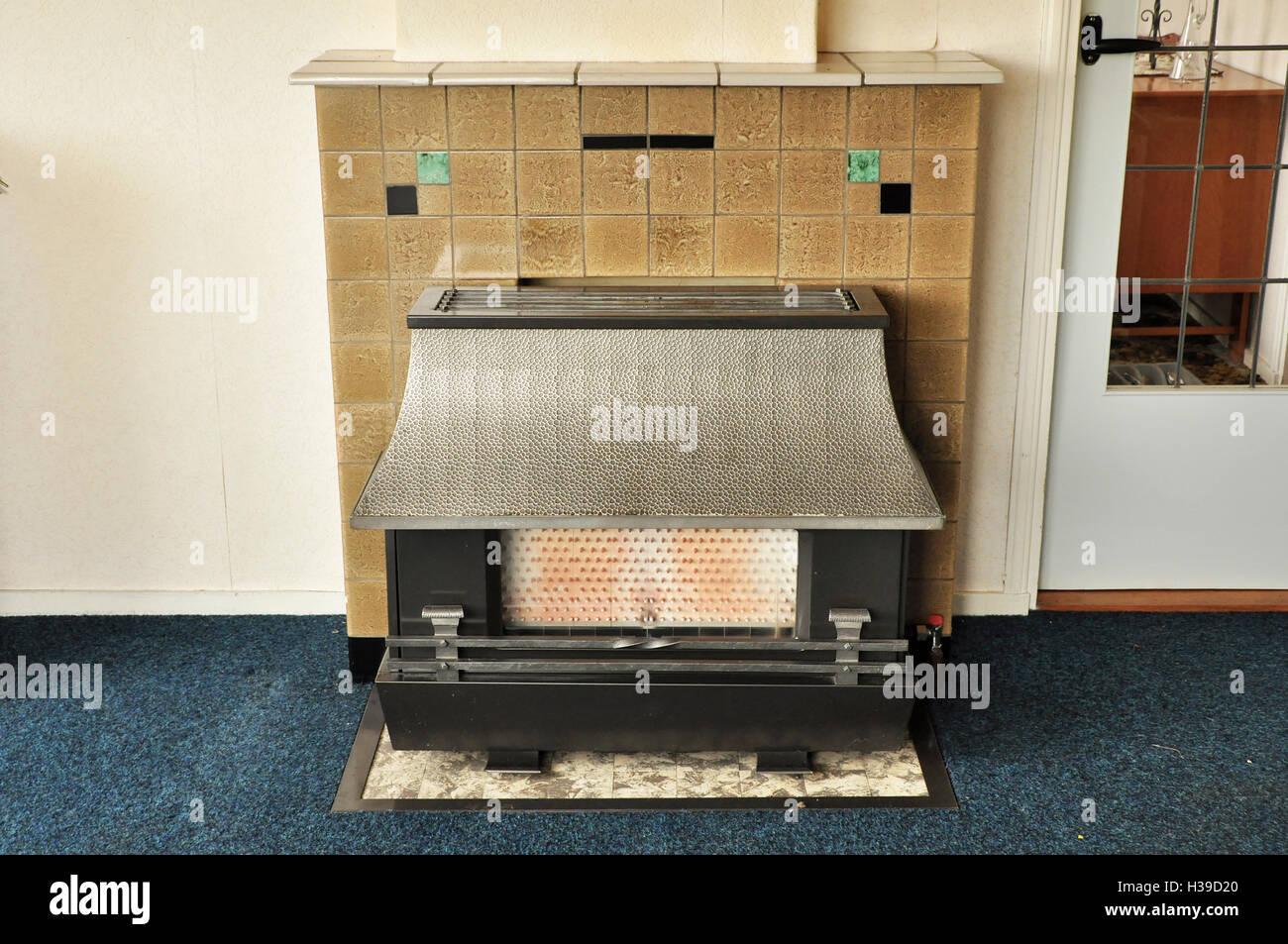 Dutch vintage interior stove - Stock Image