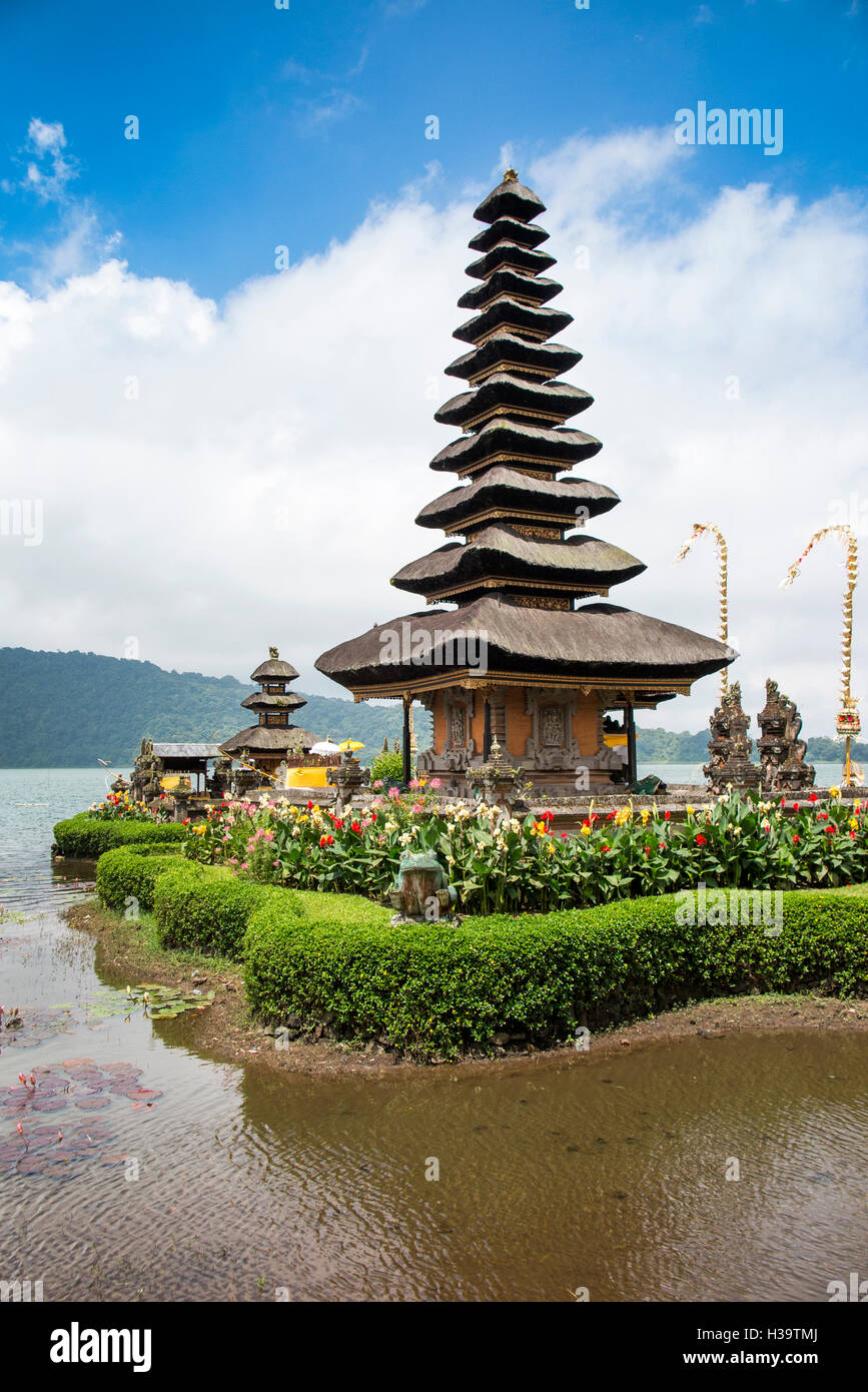 Indonesia, Bali, Candikuning Pura Ulun Danu Bratan, the temple on the lake Stock Photo