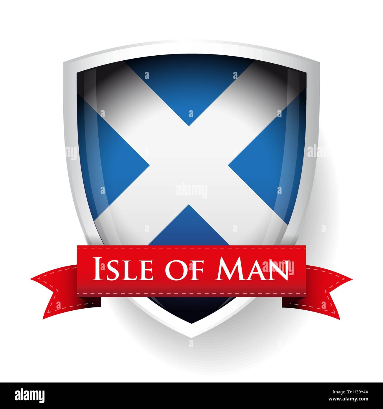 Scotland Flag with Isle of Man sign - Stock Vector