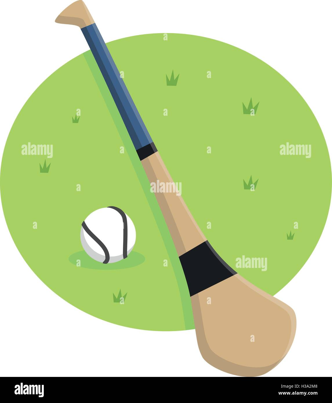 Hurley Stick and Ball Stock Vector Art & Illustration ...