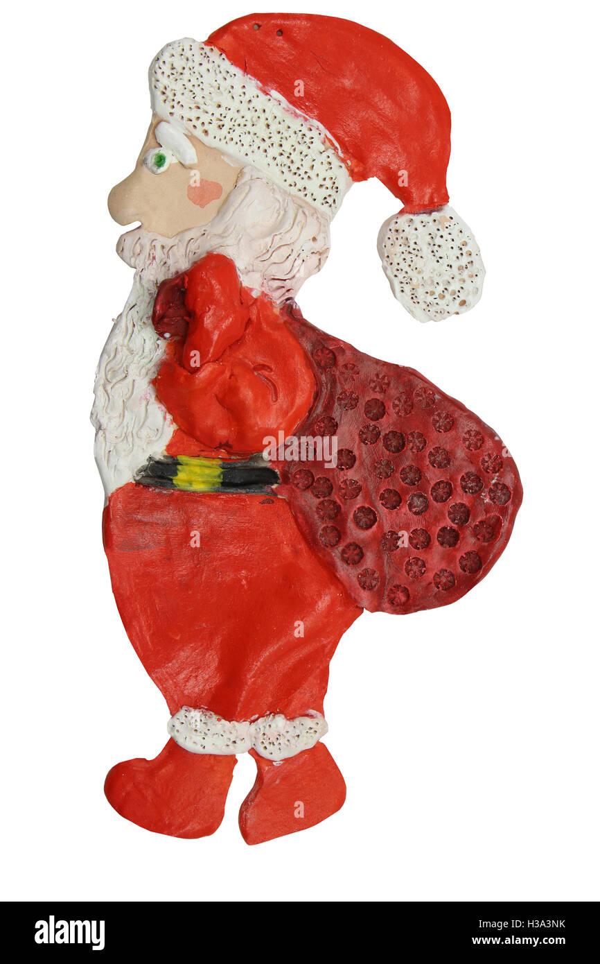 Santa Claus Crafts From Clay Children S Creativity White