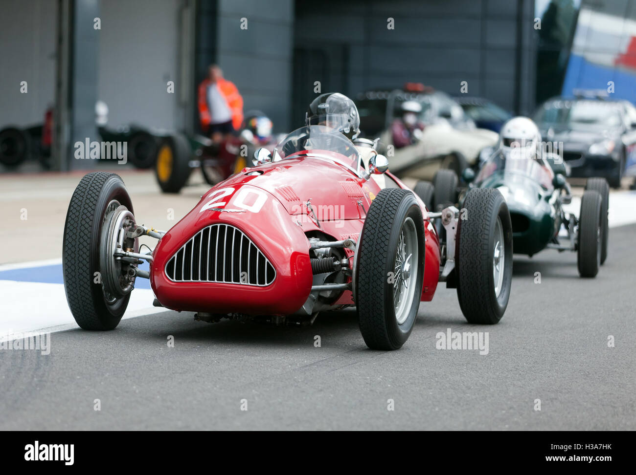 Julia De Baldanza driving an 1950, Alta F1 during qualifying for the Maserati Trophy for HGPCA Pre'66 Grand - Stock Image