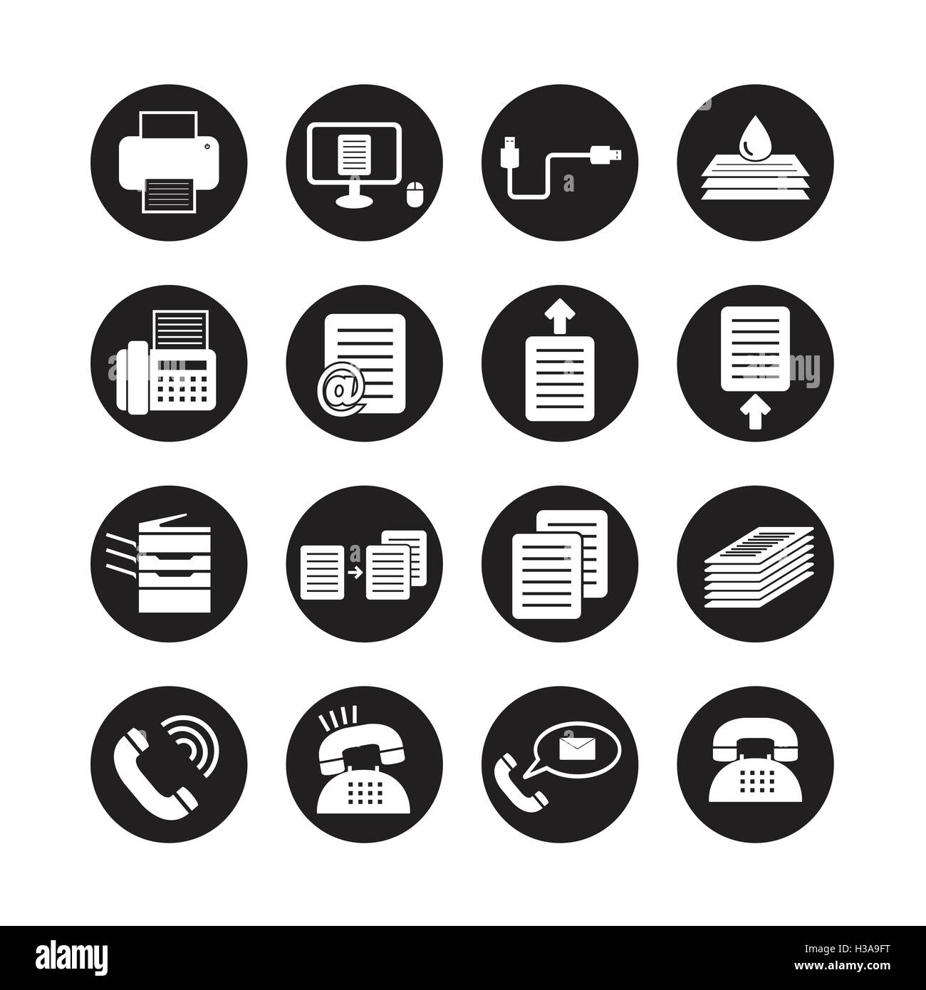 Office tools vector,icon set - Stock Image