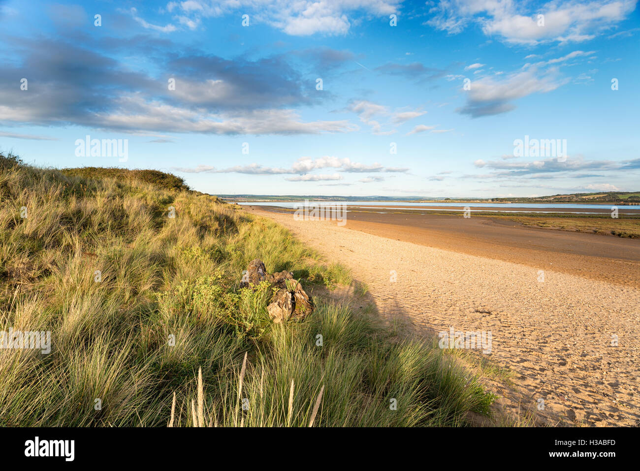 The beach at Braunton Burrows near Barnstaple on the Devon coast Stock Photo