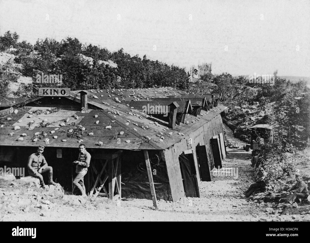 Cinema for soldiers during the First World War, 1916 Stock Photo