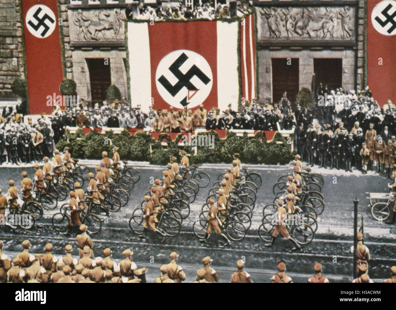 Adolf Hitler during the SA march in Dortmund, 1933 - Stock Image