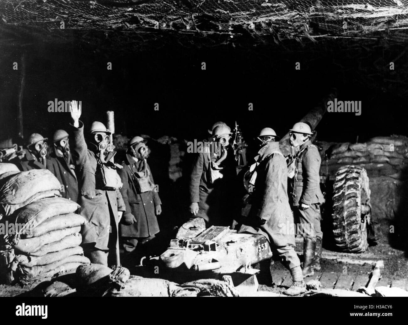 British artillery in France, 1939 - Stock Image