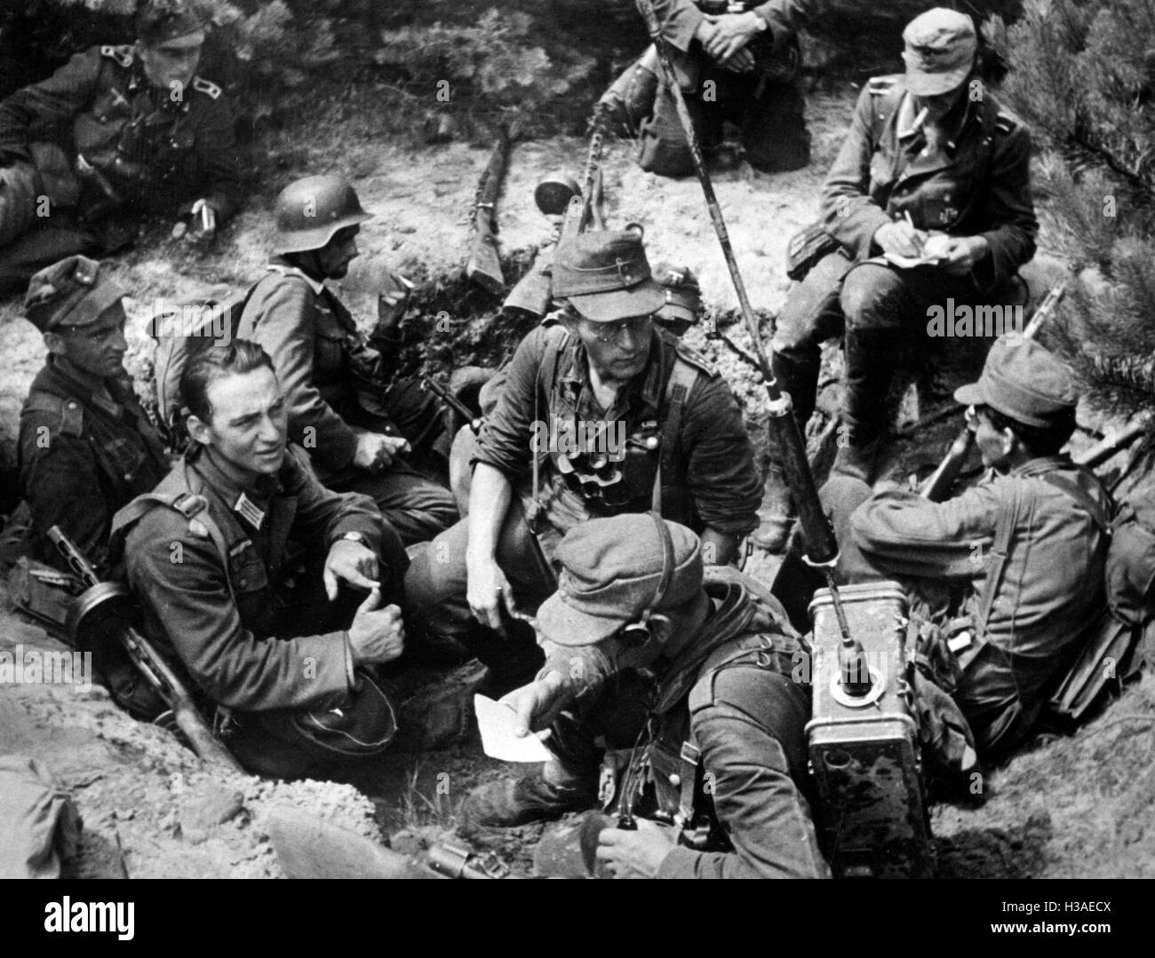 German infantry on the Eastern Front, 1944 Stock Photo