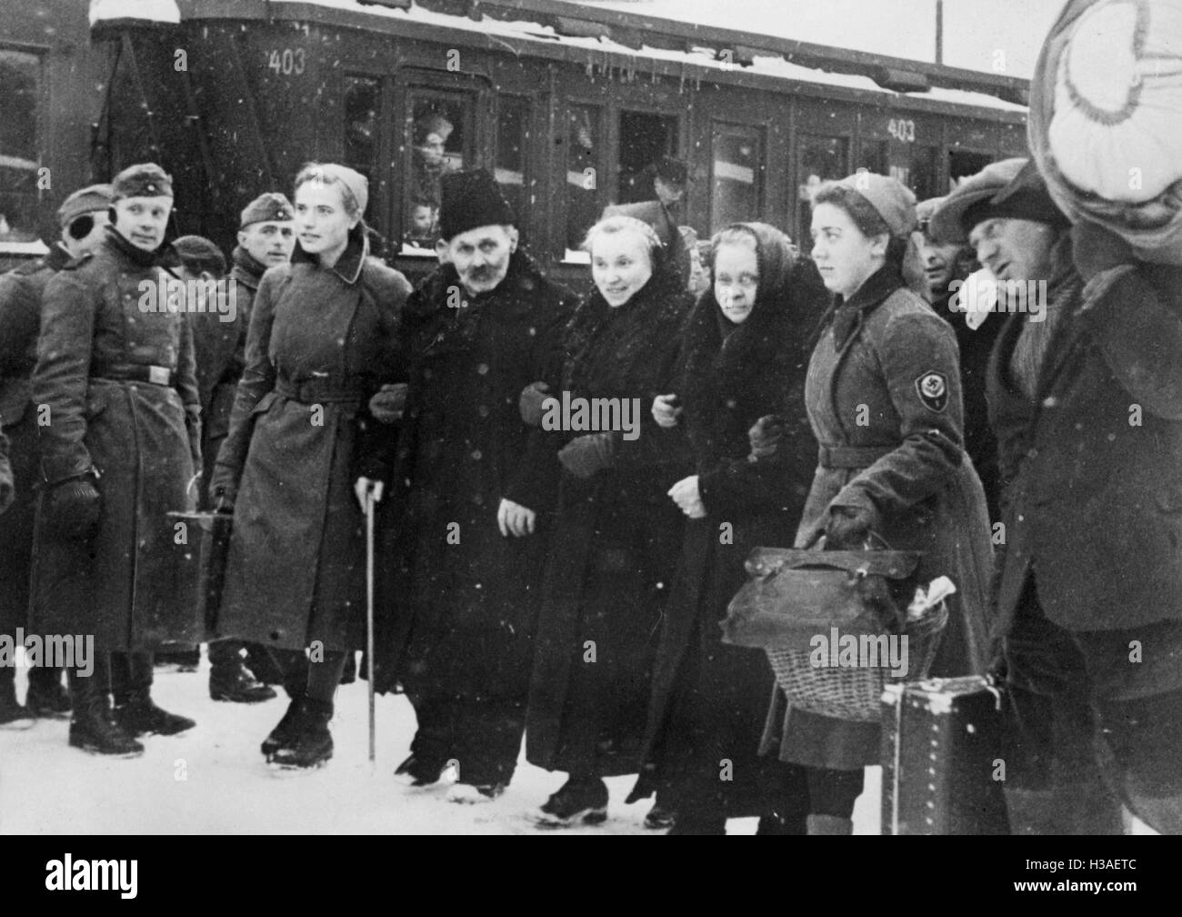 Settlers from Volhynia, 1940 - Stock Image
