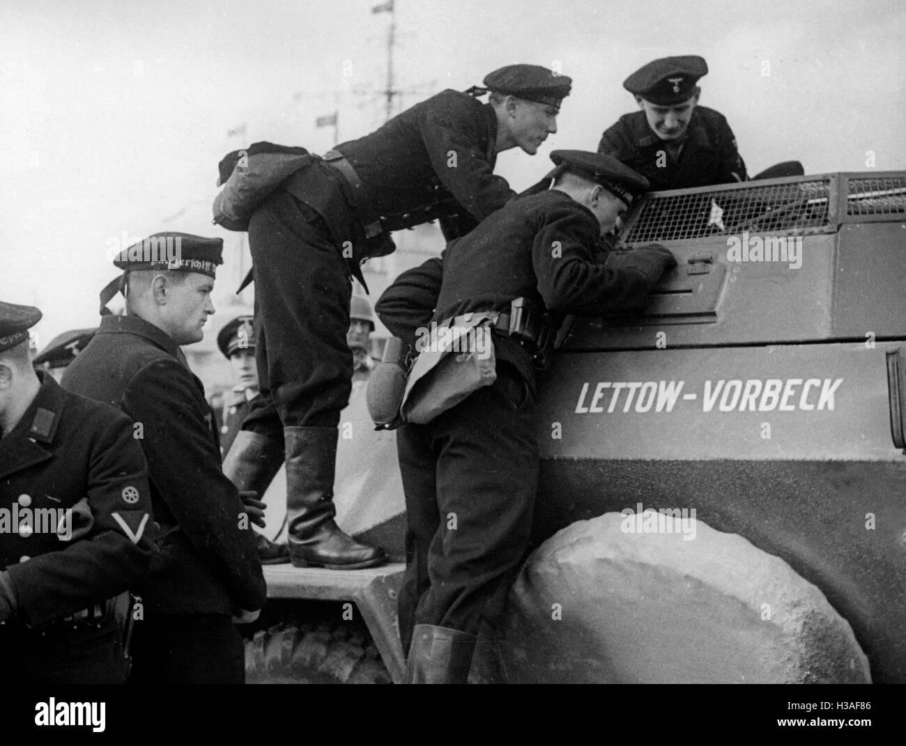 German troops marching into Memel, 1939 - Stock Image