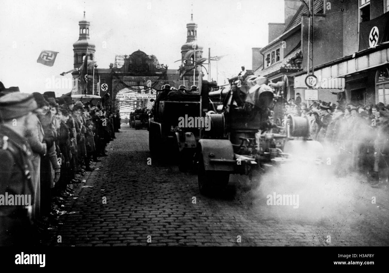 Entry of the Wehrmacht in the Klaipeda region, 1939 - Stock Image