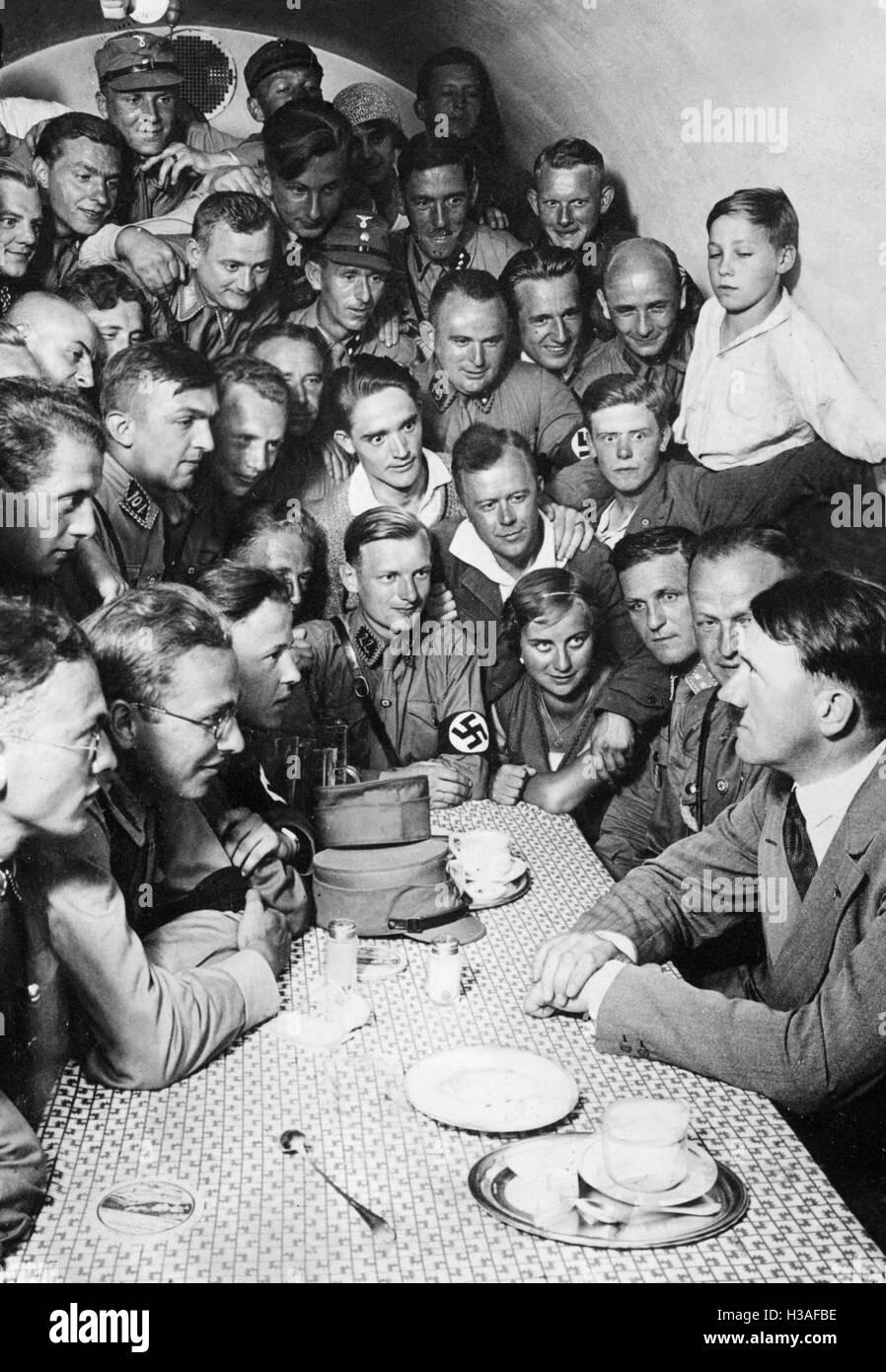 Adolf Hitler and the SA, 1934 - Stock Image
