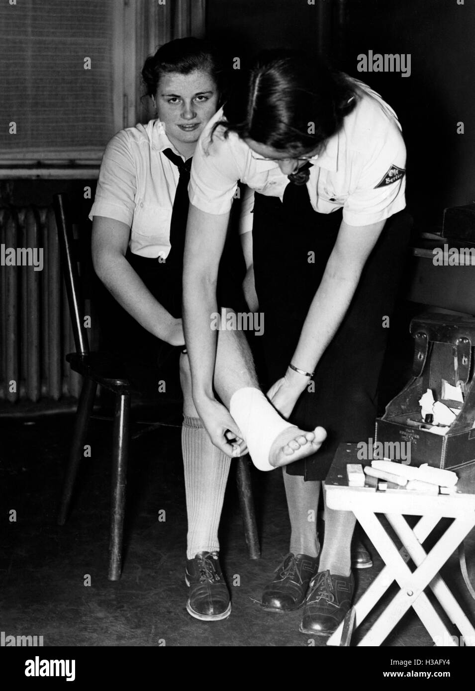BDM training for the health service, Berlin 1939 - Stock Image