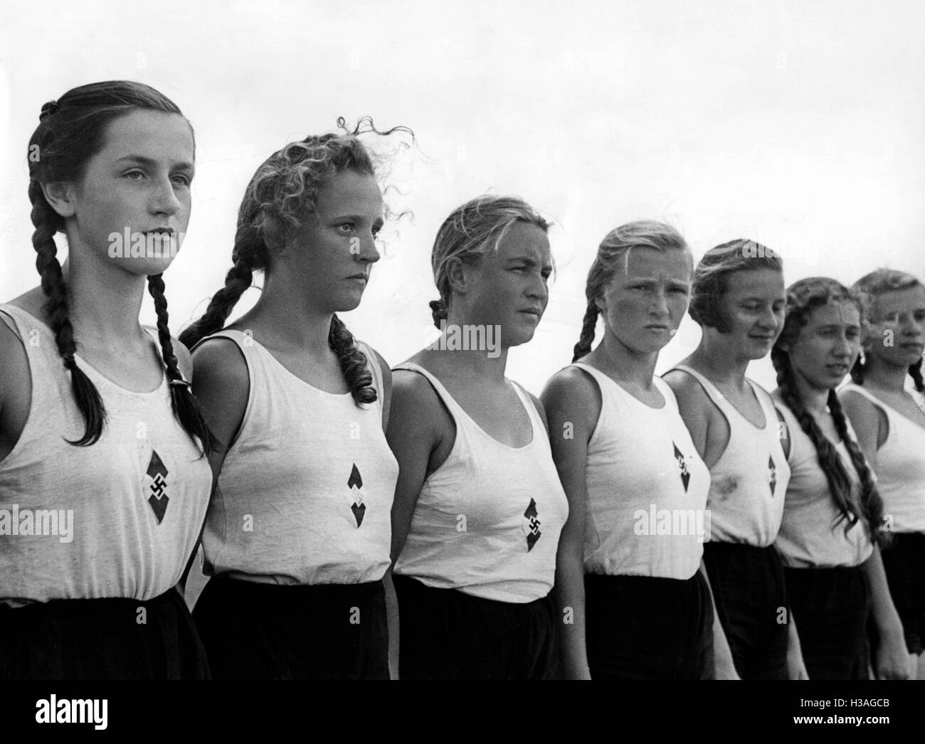 Sport camp of the BDM at Drossen, 1938