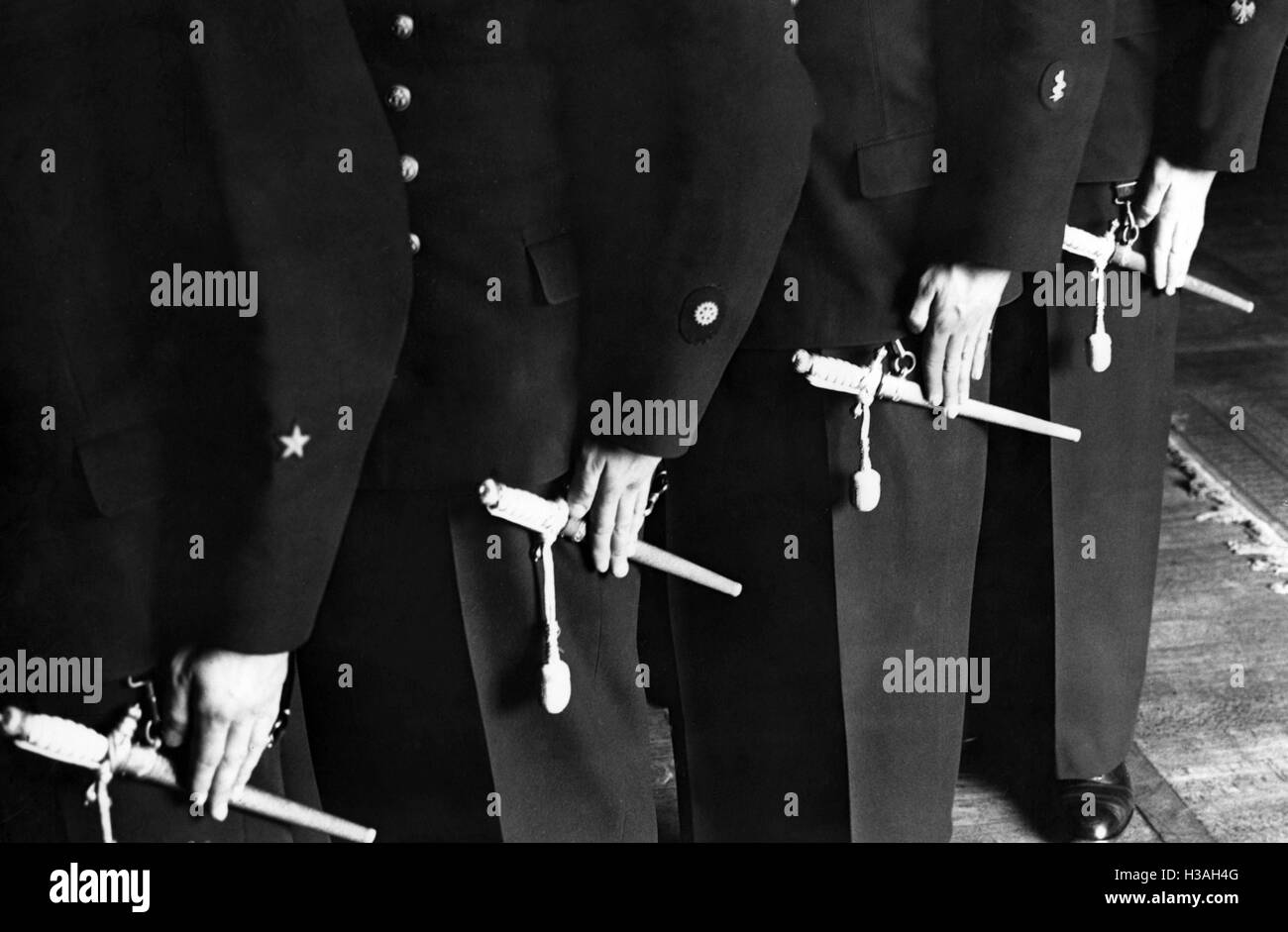 Sleeve insignia of cadets of the Kriegsmarine - Stock Image