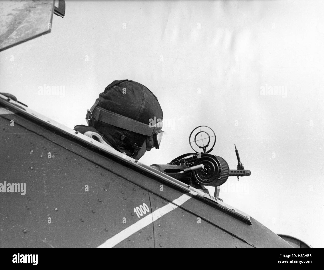Observer of a Hs 126 during an exercise, 1939 - Stock Image