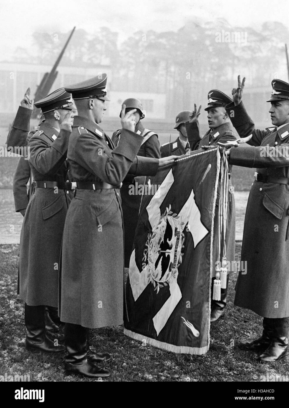 'Swearing-in of recruits of the regiment ''General Goering'', 1938' - Stock Image