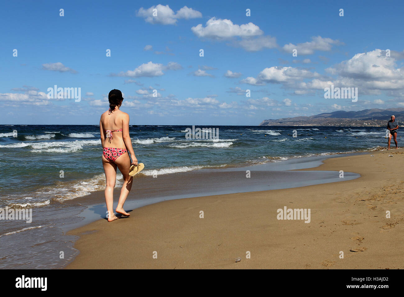 beach scenes from stalis stalida crete greece stock photo: 122550542