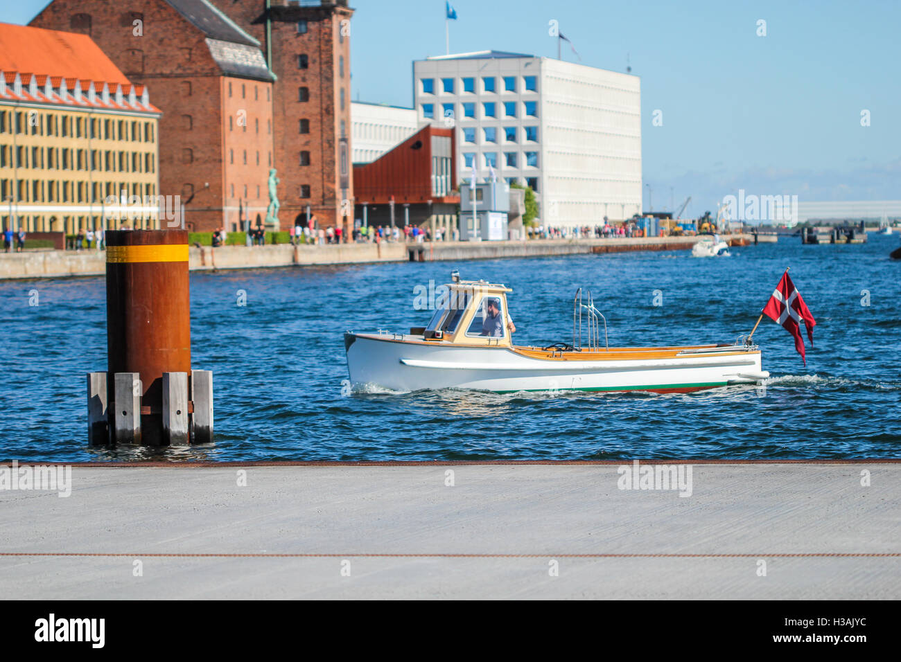 City center in Copenhagen greater area during warm spring day - Stock Image