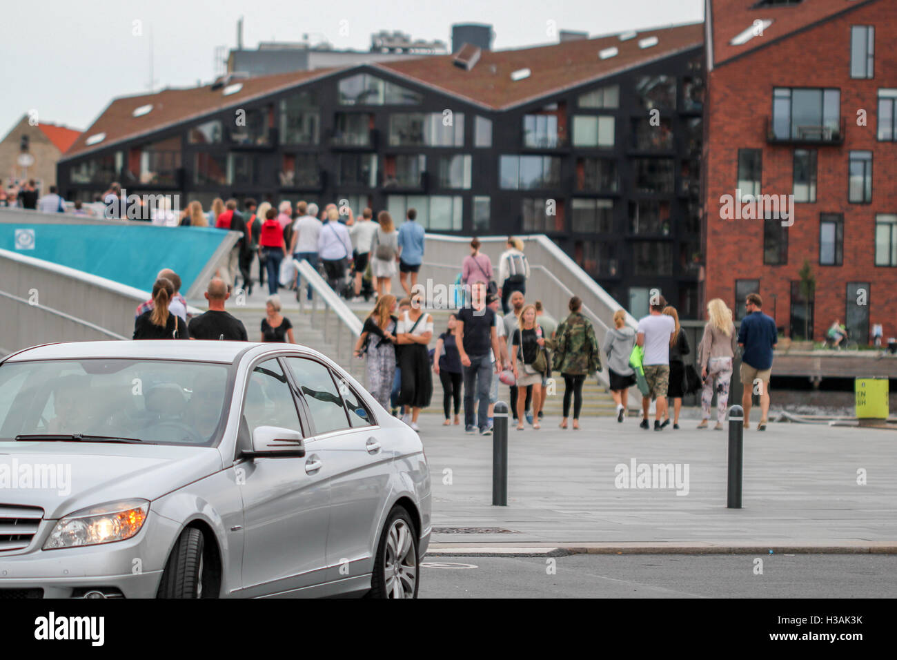 City center in Copenhagen greater area during warm spring day Stock Photo