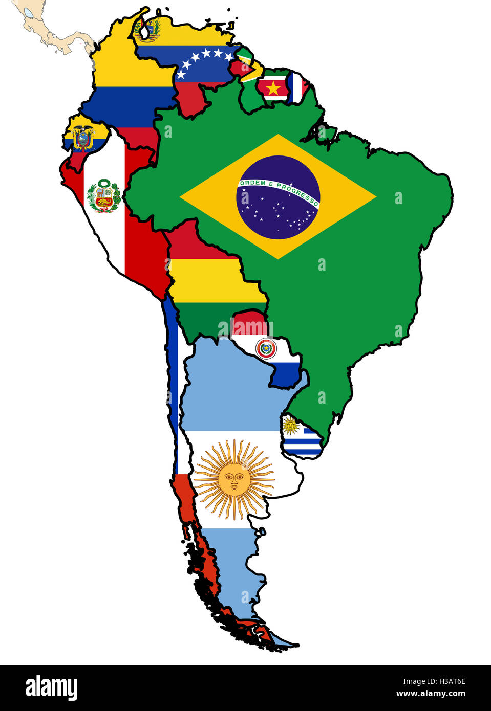 some map of south american countries Stock Photo: 122555062 - Alamy