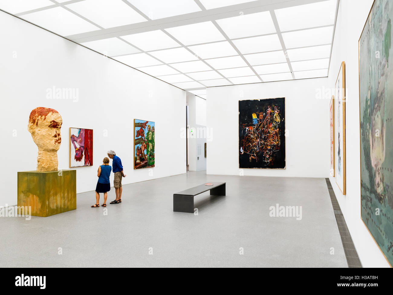 Interior of the Pinakothek der Moderne (Museum of Modern Art), Munich, Bavaria, Germany Stock Photo
