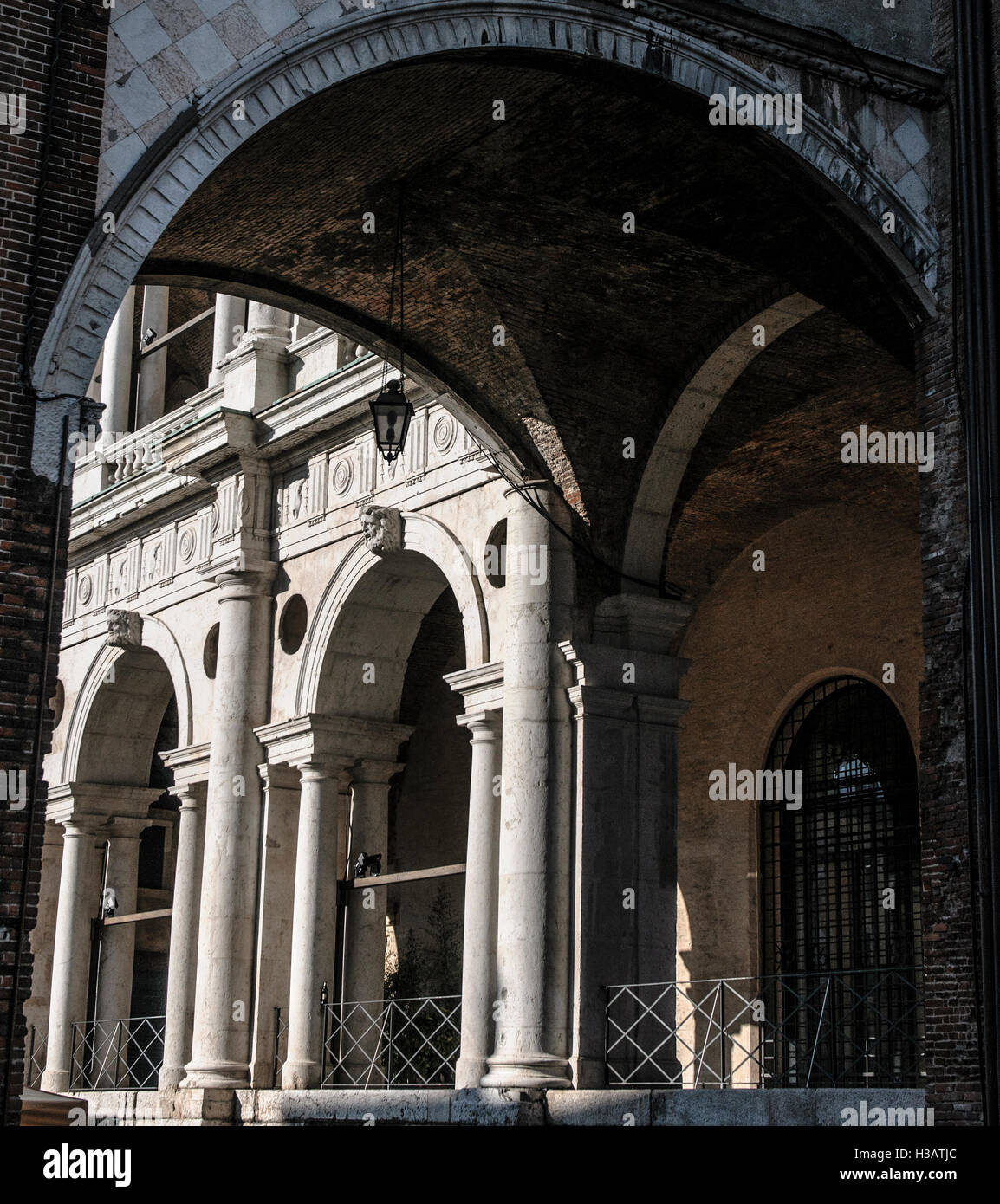 Detail of the basilica of Vicenza - Stock Image