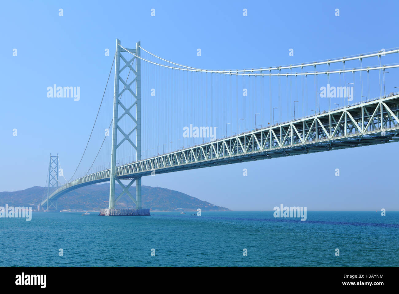 Akashi Kaikyo bridge - Stock Image