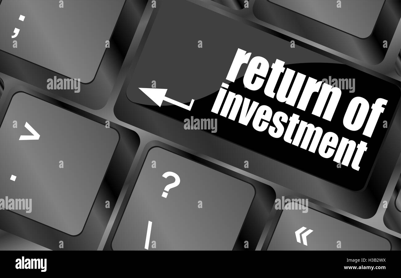 invest or investing concepts, with a message on enter key or keyboard - Stock Image