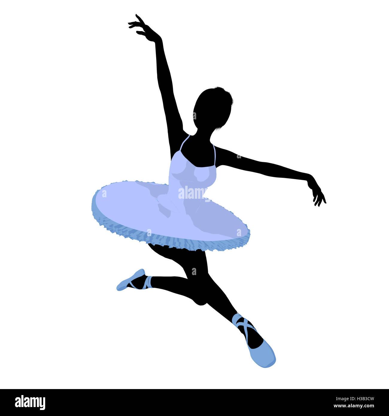 Ballerina Illustration Silhouette Stock Photo Alamy