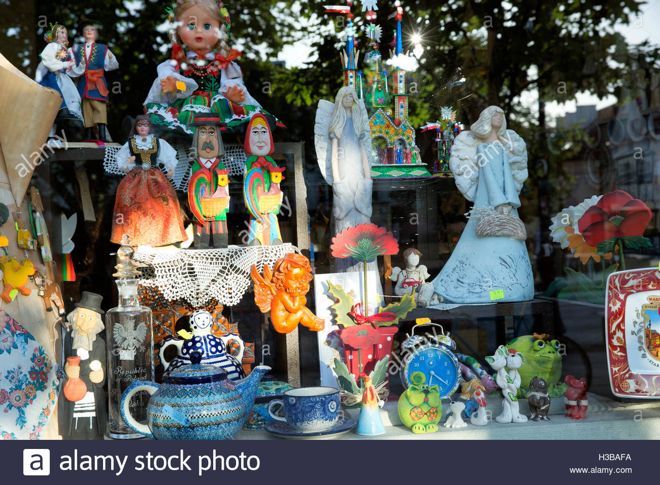 close up of souvenir shop in warsaw poland stock photo 122566286 alamy. Black Bedroom Furniture Sets. Home Design Ideas