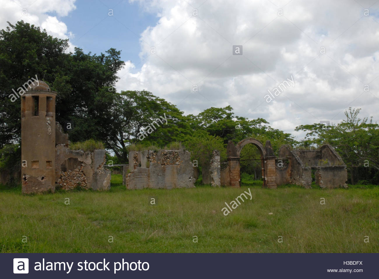 Cuban places: Historic ruins of Trocha Mariel Majana, National Monument Stock Photo