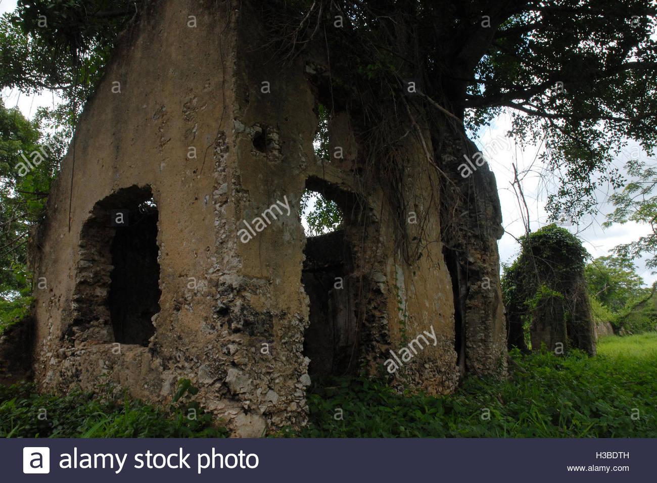 Cuban places: Historic ruins of Trocha Mariel Majana, National Monument Stock Photo
