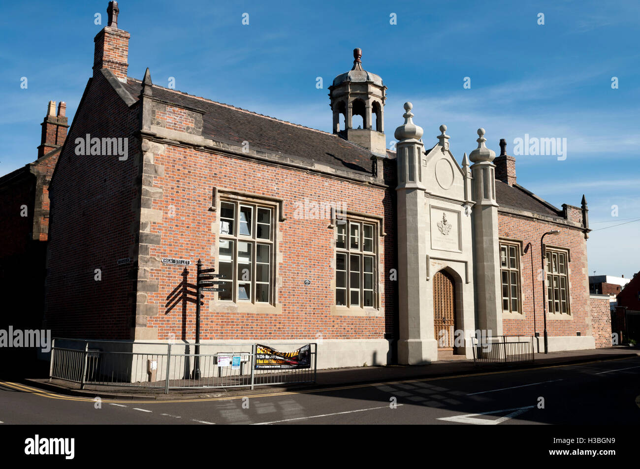 The Nethersole Centre (old school building) in High Street, Polesworth, Warwickshire, England, UK - Stock Image