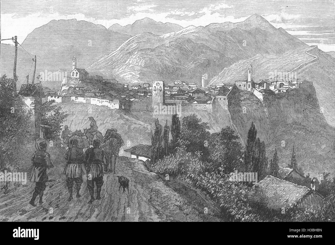 MONTENEGRO Bar, on the Adriatic coast, near Dulcigno 1880. The Illustrated London News - Stock Image