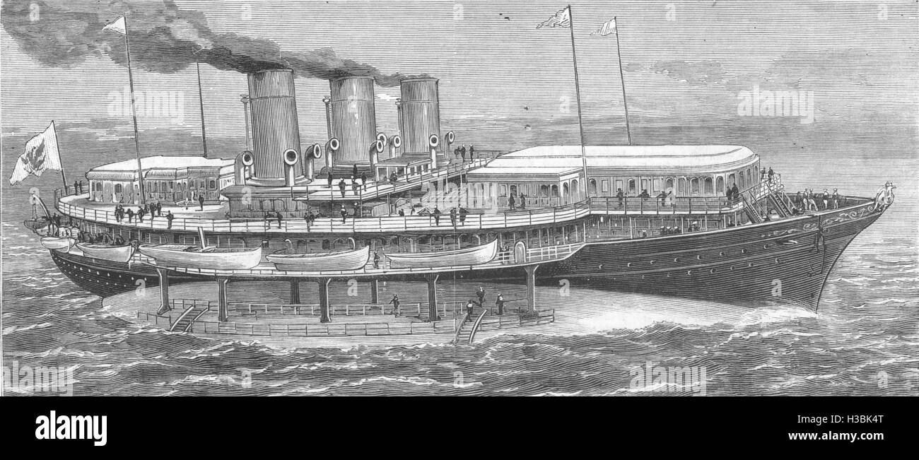 ROYALTY The Czar's new yacht Livadia 1880. The Graphic - Stock Image
