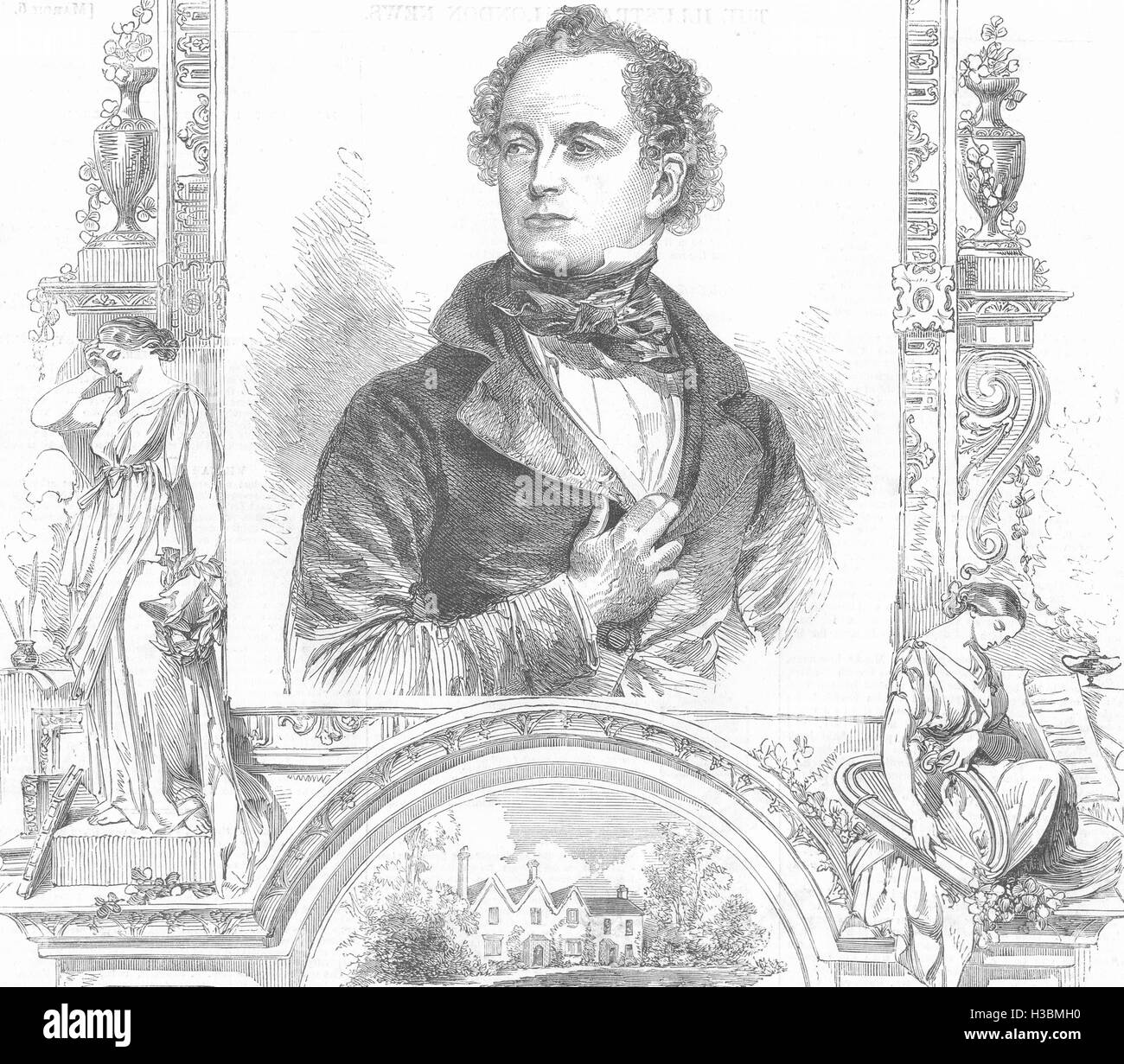 POETS Thomas Moore 1852. The Illustrated London News - Stock Image