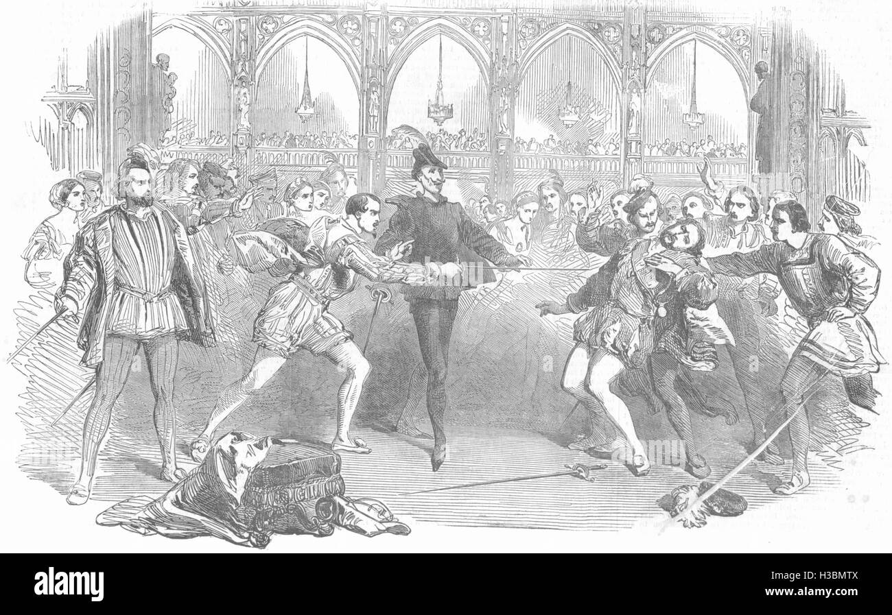 PERFORMING ARTS Scene from Spohr's Faust, at the Royal Italian opera 1852. The Illustrated London News - Stock Image