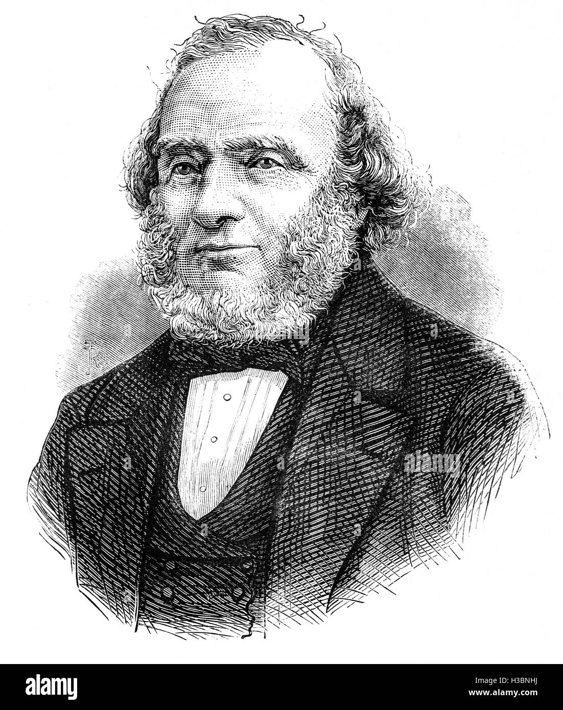 Earl Russell, or Lord John Russell, prominent Liberal politician.  He was Home Secretary from 1835 to 1839, Foreign - Stock Image