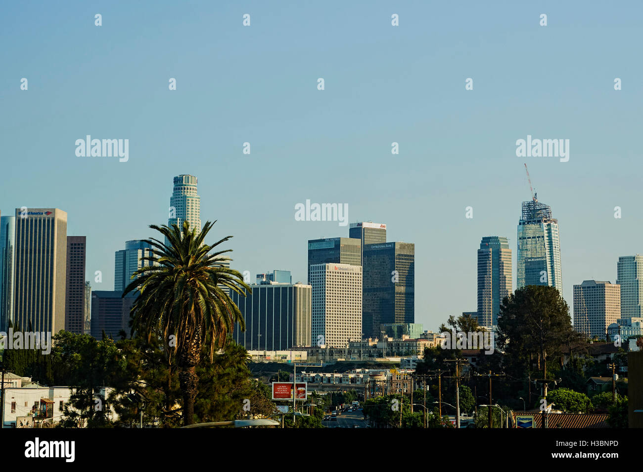 City of Los Angeles and often known by its initials L.A., is the second-largest city in the United States after - Stock Image
