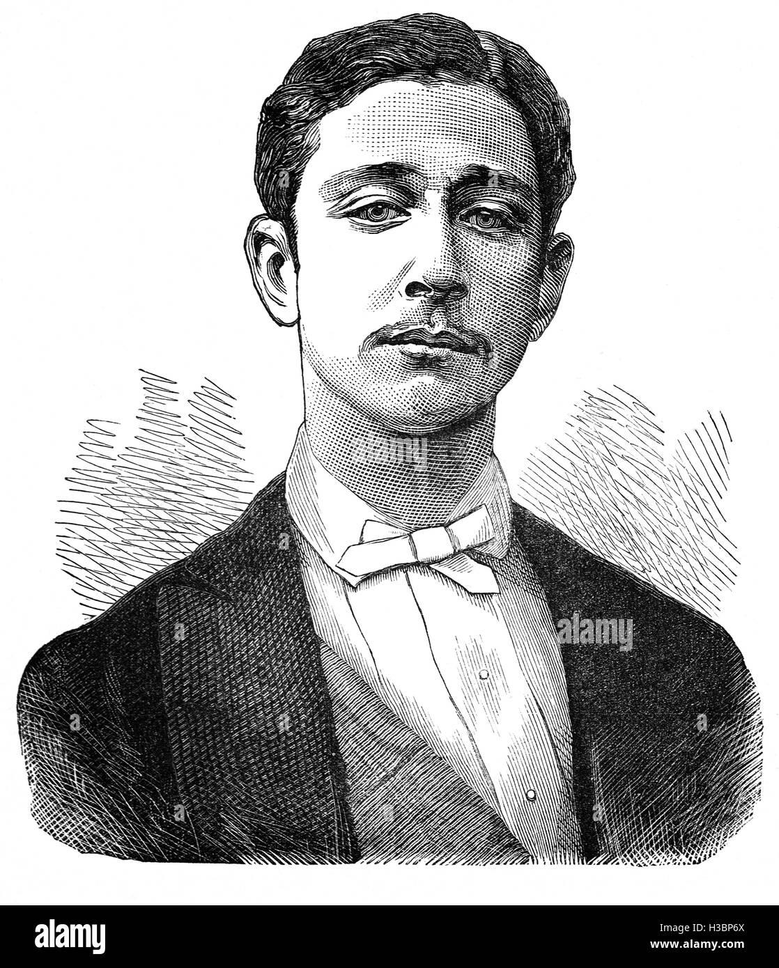 Napoléon, Prince Imperial (full name: Napoléon Eugène Louis Jean Joseph Bonaparte (1856 – 1879) was - Stock Image
