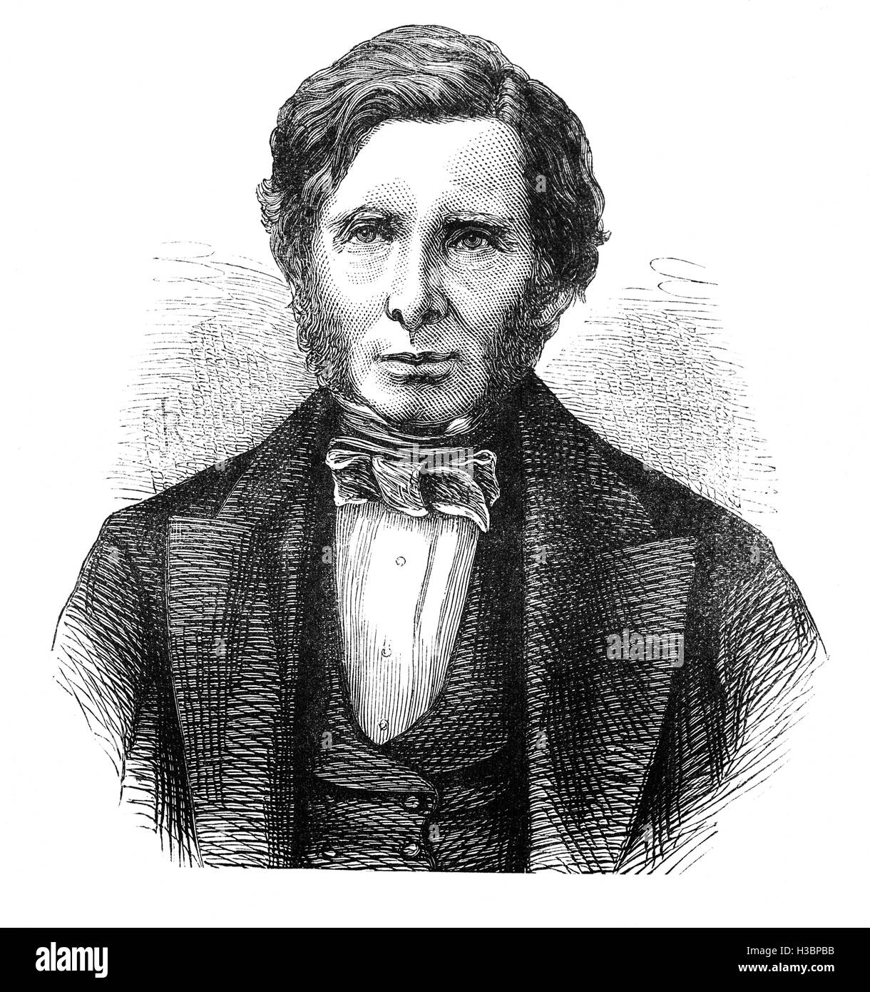 John Ruskin 1(819 – 1900) was the leading English art critic of the Victorian era, also an art patron, draughtsman, - Stock Image