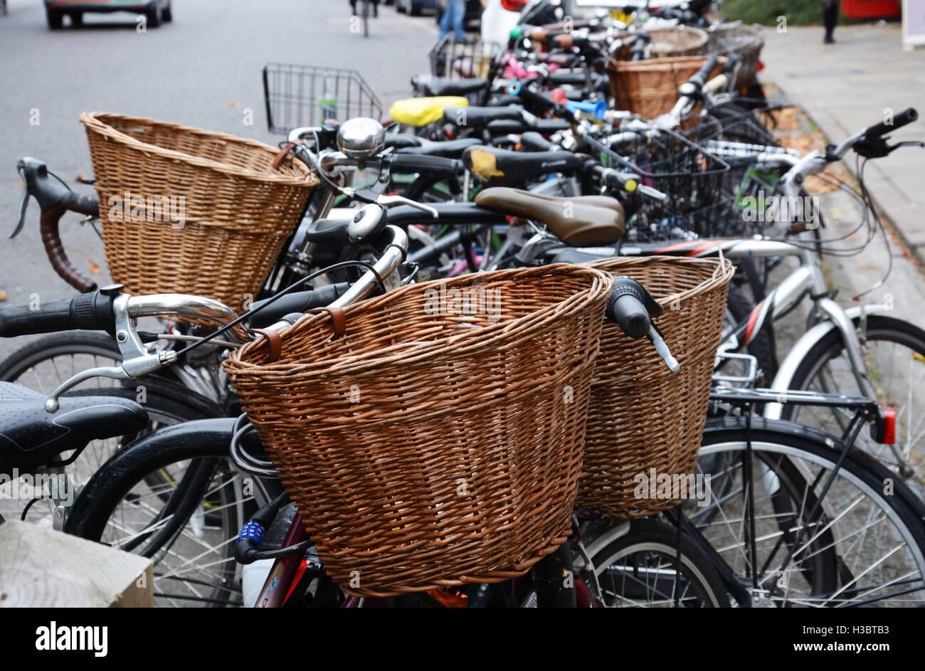 Bikes, bicycles, in Cambridge, England. - Stock Image