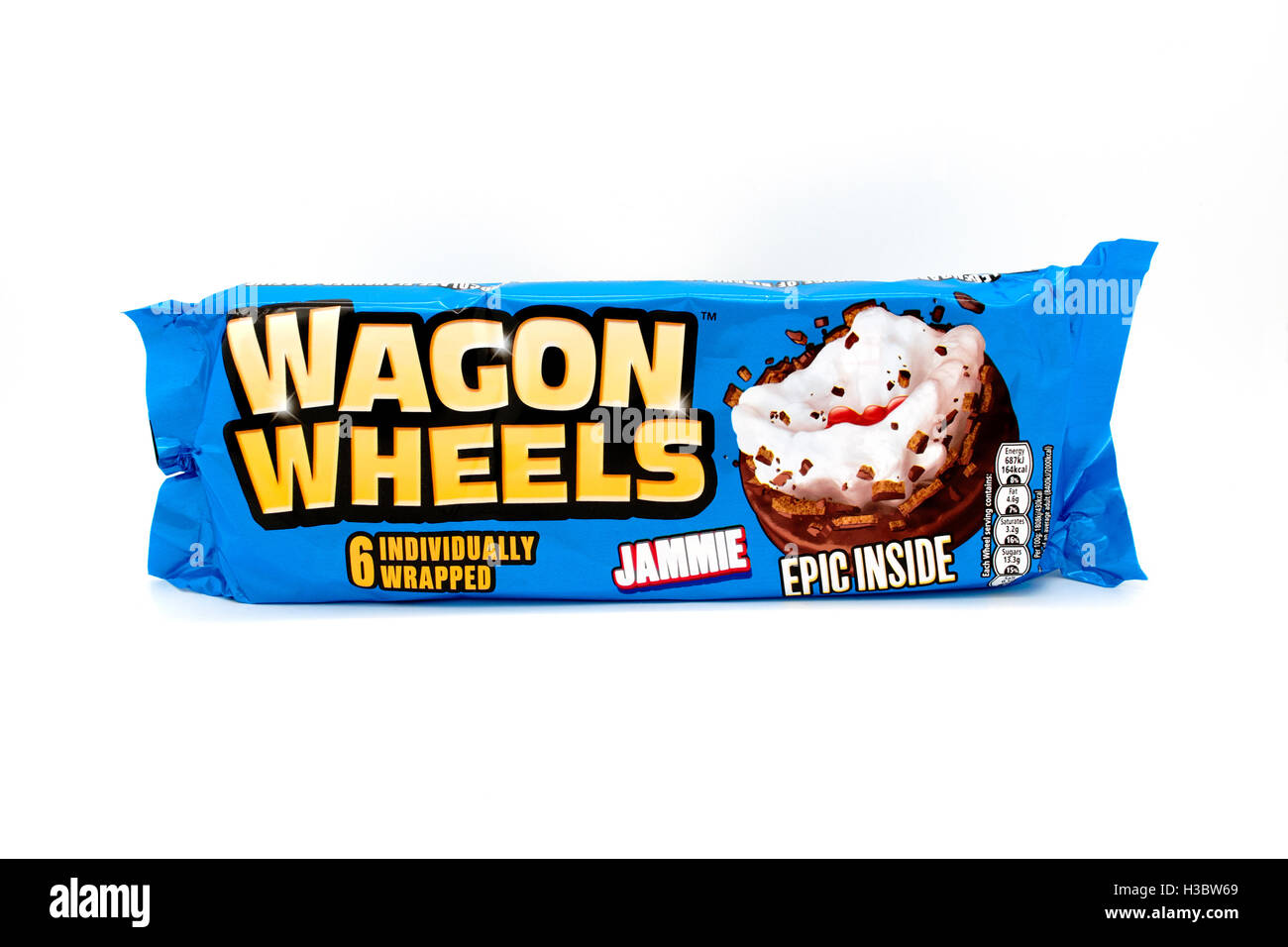 Burtons Wagon Wheels snack biscuits - Stock Image