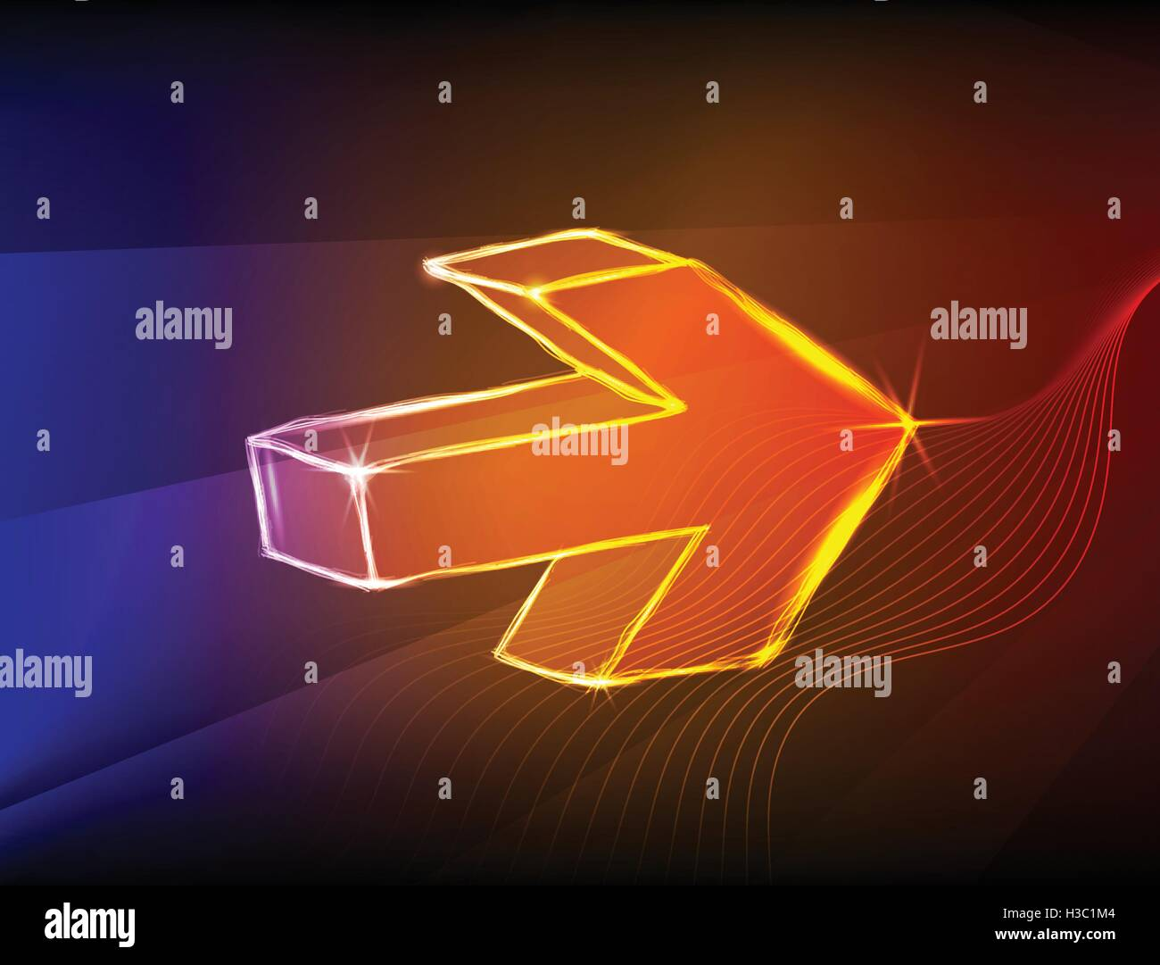 Abstract arrows light background - Stock Image