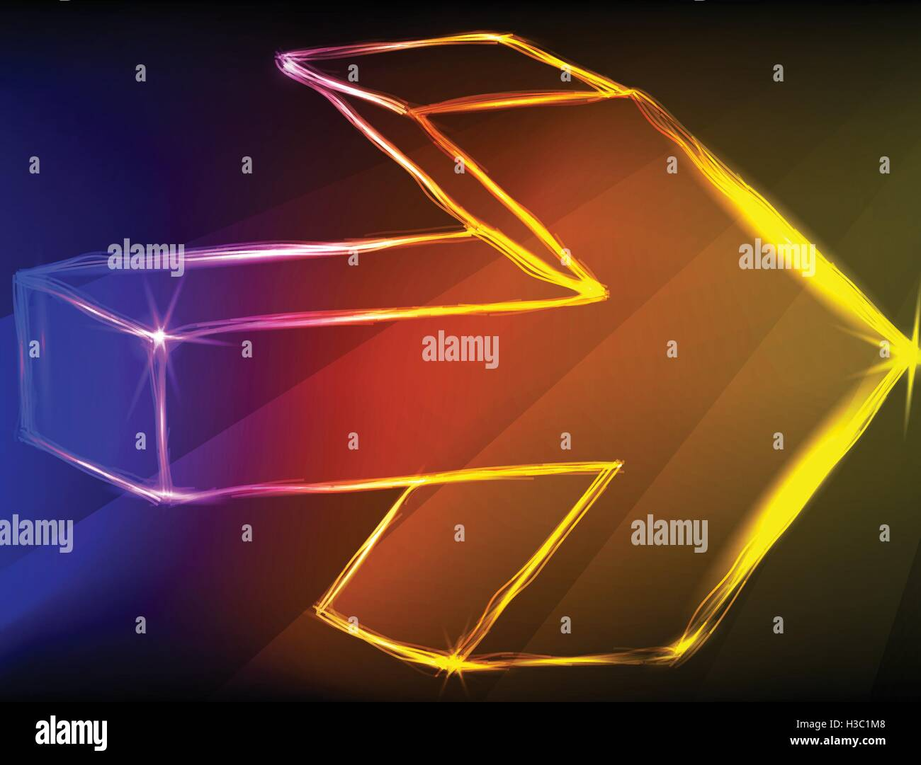 Abstract arrows light background. - Stock Image